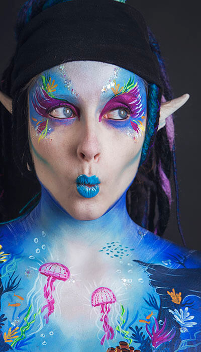 photo body painting moselle