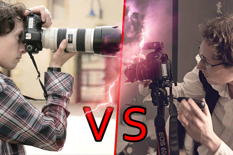 faire de la photo vs faire de la video