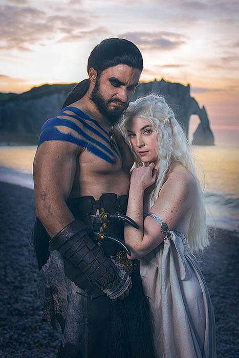 photo cosplay couple game of throne